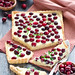Cranberry tart with white chcolate