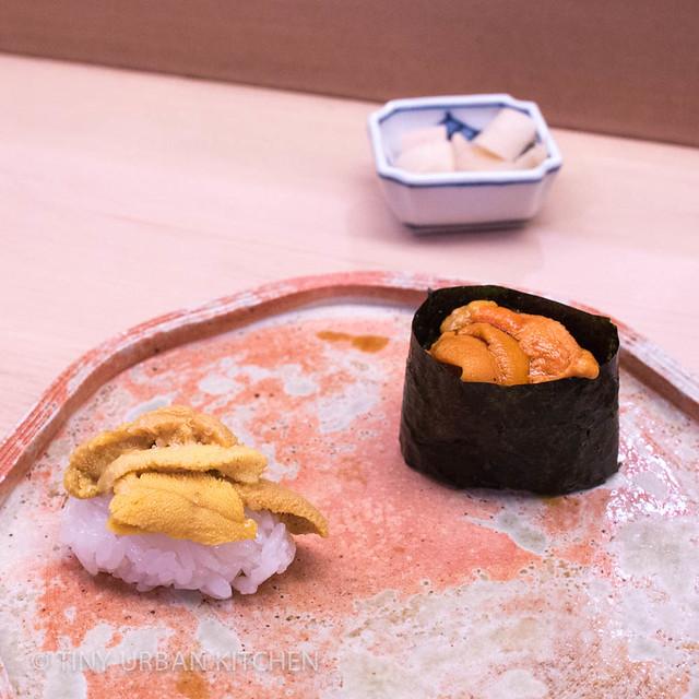Kyushu and Hokkaido Uni from Sushi Aoki