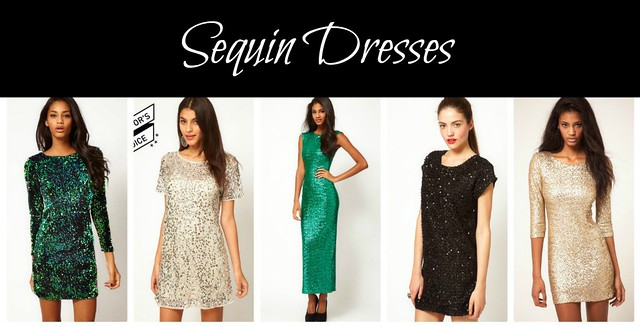 sequin dresses collage