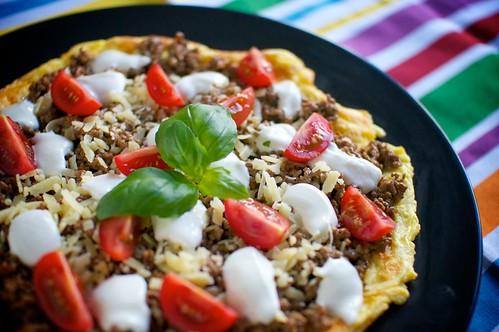 Omelett med tacofyllning