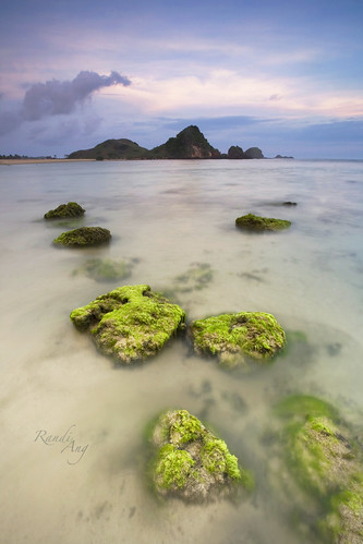 blue sunset seascape beach rock canon indonesia landscape eos moss asia long exposure south tide low east hour 5d ang lombok kuta randi seger