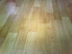 Laminate flooring in a new home