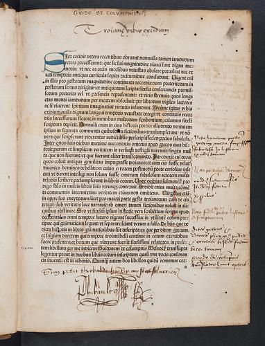 Ownership inscription in Columna, Guido de: Historia destructionis Troiae