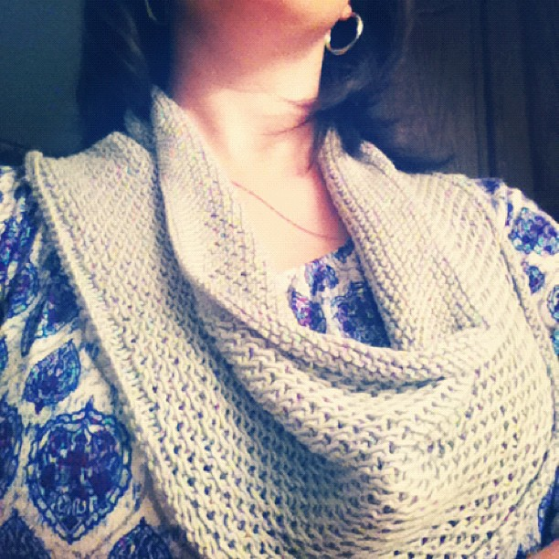 Honey cowl complete!