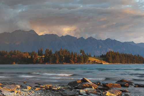 sunset newzealand lake queenstown remarkables middleearth lakewakatipu