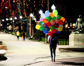 boston tremont street girl with balloons