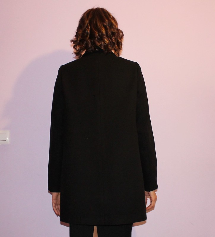 Black coat, back