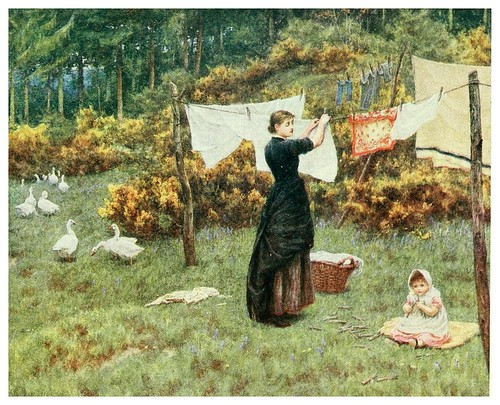 014- Tendiendo la ropa-Happy England as painted by Helen Allingham-1903