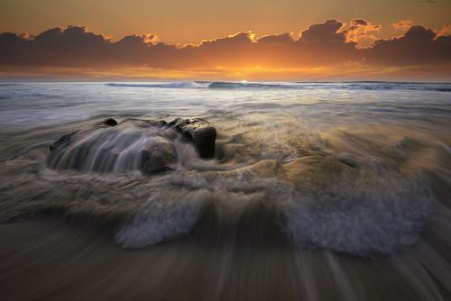 ocean sunset sea sky orange sun seascape beach water clouds sand surf waves pacific tide lajolla simmons reef windansea sandiegocoast