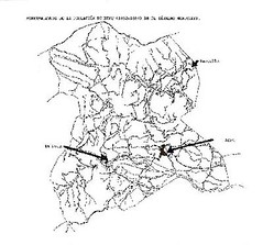 Asentamientos en el término municipal de Xert (1852 - 1884)