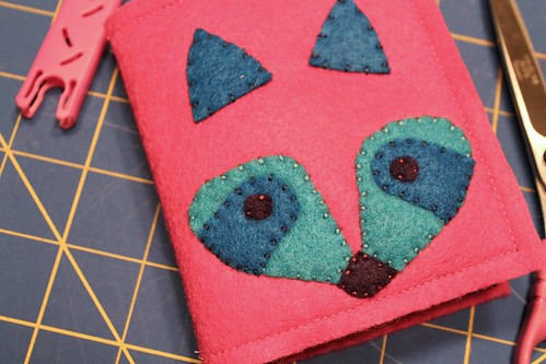 raccoon felt needle book