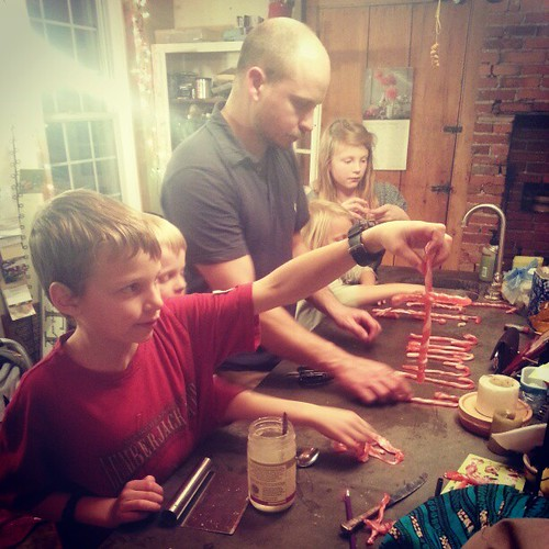 #candycane making night