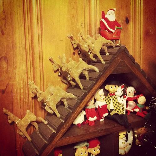 Santa ad his sleigh.