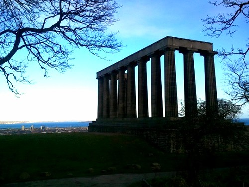 The National Monument on Calton Hill Edinburgh
