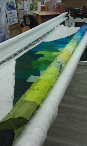 Eternity quilt on the quilting frame