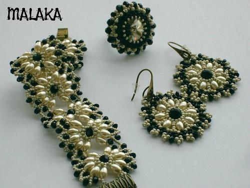 Conjunto perla y negro by Malaka65