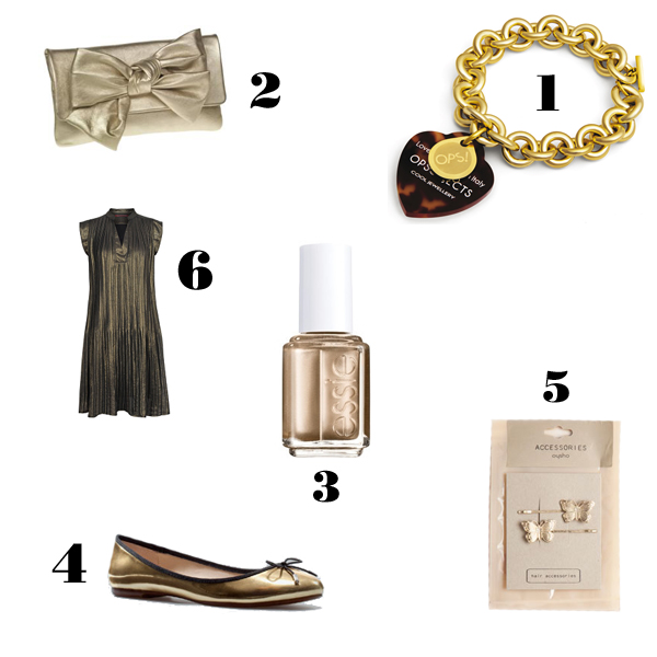 Simply girly: in the mood for gold