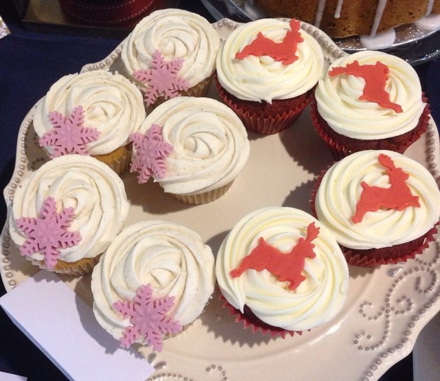 Mulled wine & red velvet Rudolph cupcakes | Flickr - Photo Sharing!