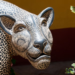 Ceramic Panther at Museo Na-Bolom - San Cristobal de las Casas, Mexico
