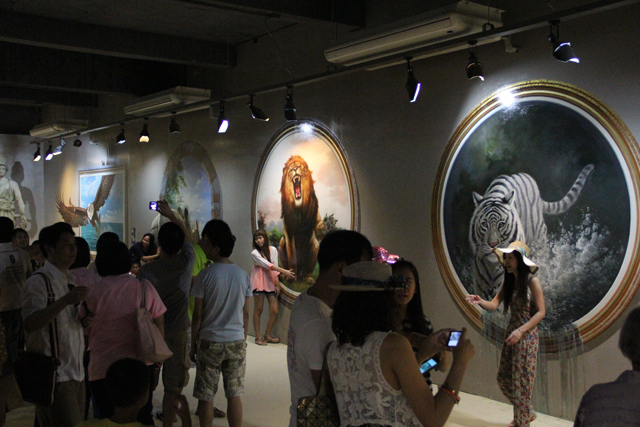 Illusion painting museum