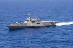 USS Coronado (LCS 4) operates off the Hawaiian Islands during exercise RIMPAC 2016 in July. (U.S. Navy/MC2 Michaela Garrison)