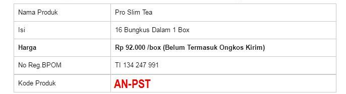 Pro Slim Tea, Pelangsing teh Terbaik