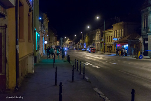 brașov night romania street