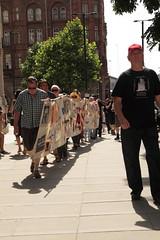 Martin leads the walk