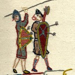 Two Saxon Soliders, by Stamford Bridge Tapestry Project