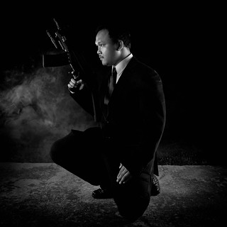 Asian James Bond : SKYFALL Black & White Version