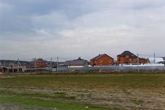 Village entre Moscou et l'aéroport de Domodedovo