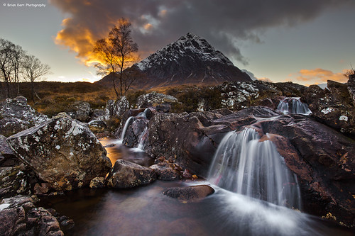 scotland waterfall highlands scottish glencoe buachaillieetivemor