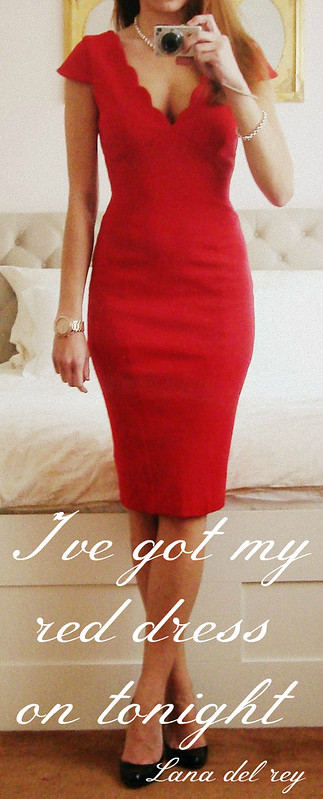 Red Dress - Lana del Rey Quote