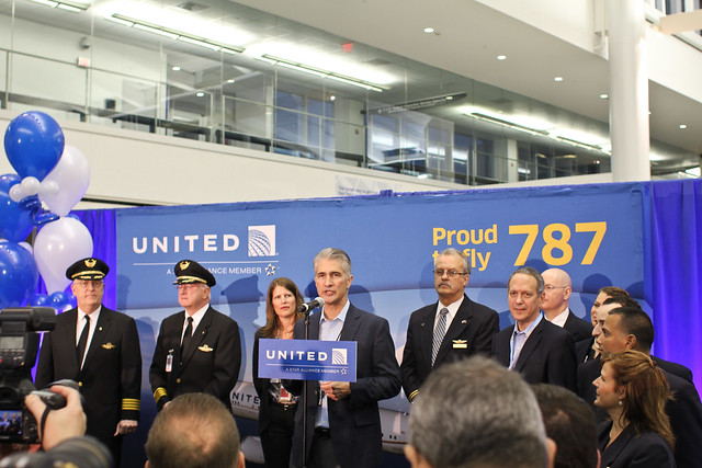 United's Jeff Smisek Talking about the 787