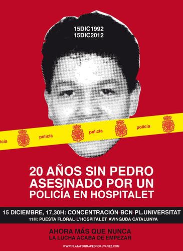 Pedro Alvarez, Cartel actividades  20 años de un asesinato inpune