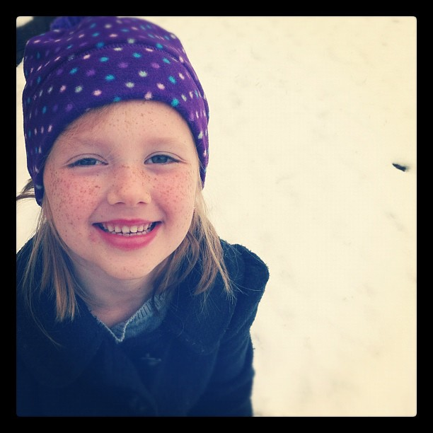 Playing in the snow before school!
