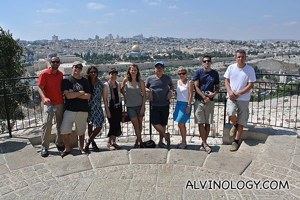 Group picture at Jerusalem