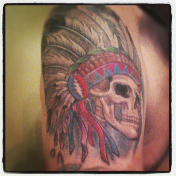 3ab24987a ... My Dead Indian Tattoo #indiantattoo #ink #markduhan #skindeepink | by  AaronSwift1969