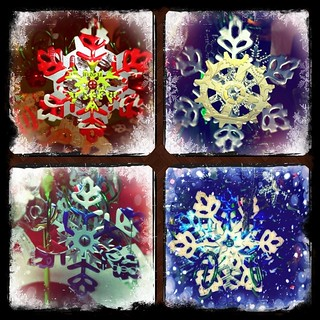 Snowflake Die Cut Ornaments