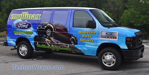 Van wrap graphics by TechnoSigns in Orlando