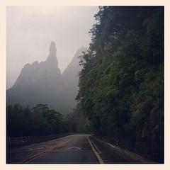 Esperar o nevoeiro passar para ver o dedo de Deus. Hoje, voltando de Terê.