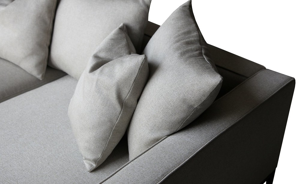 Sensational California Modern Grey Brick Cotton Sofa Cressina Com Machost Co Dining Chair Design Ideas Machostcouk