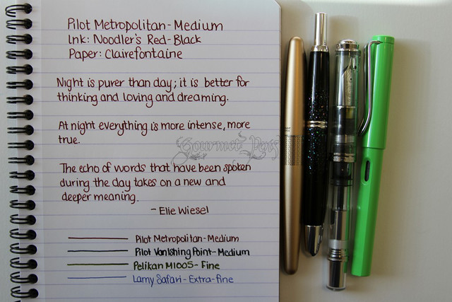 Pilot Metropolitan Writing Sample