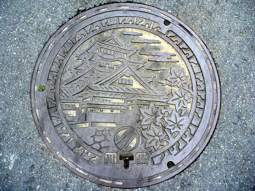 Kawashima town Tokushima pref, manhole cover 2 (徳島県川島町のマンホール2)