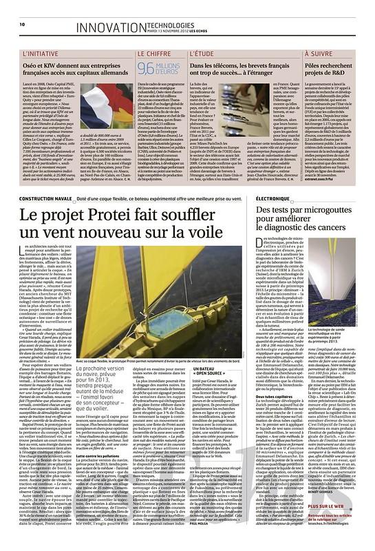 Les Echos, Protei. 2012 11 13