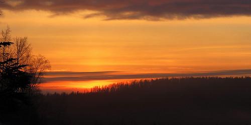 sunset alaska 2012