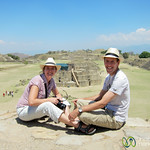 Dan and Audrey at Monte Alban - Oaxaca, Mexico