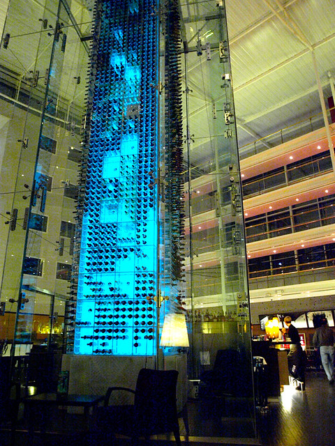 Wine Tower at Radisson Hotel , Stansted Airport, London