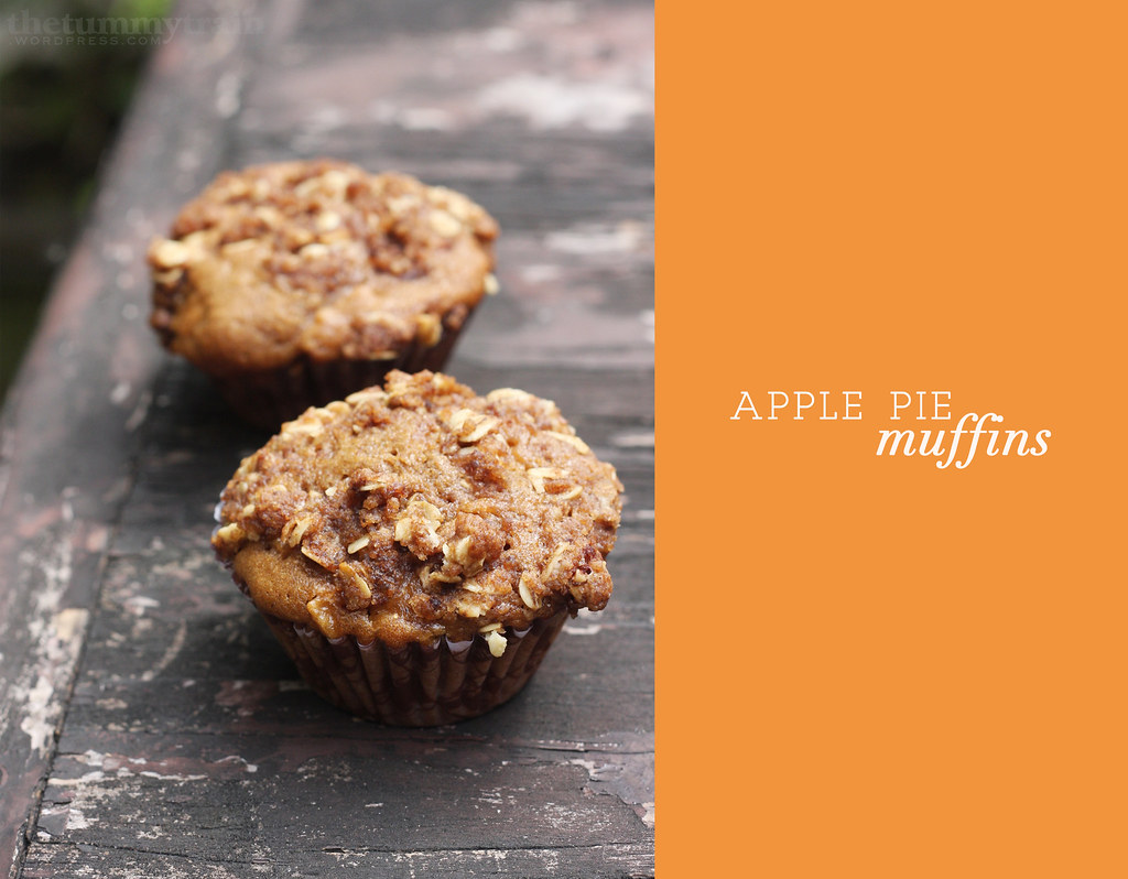 ... the absence of actual apple pie- Apple Pie Muffins - The Tummy Train