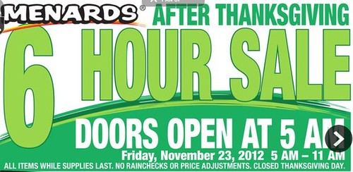 Menards black friday ad 2012